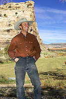 ..John Tomac on his  Ranch , Cortez , Colorado   November 2004..pic © Steve Behr / Stockfile