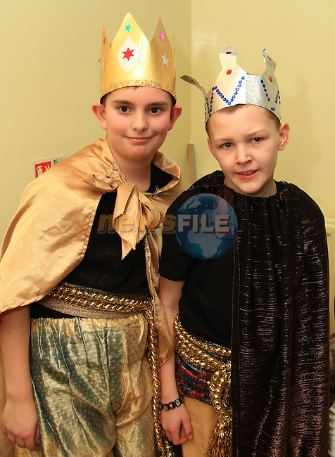 Cameron Greene and John Everitt who were in the concert at St. Ita's School..Picture: Shane Maguire / www.newsfile.ie.
