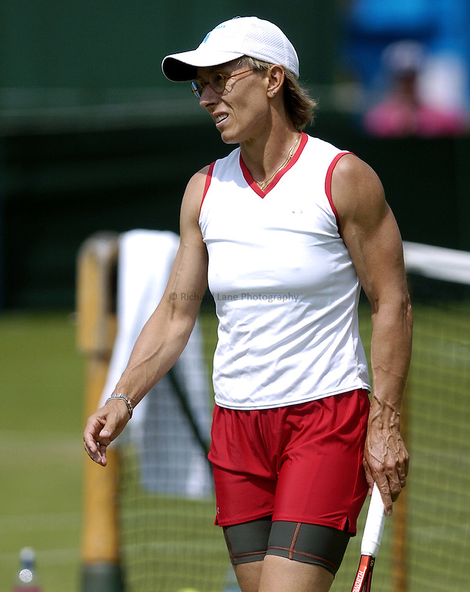 Photo: Richard Lane..Hastings Direct International Championship at Eastbourne. 14/06/2004..Martina Navratilova.