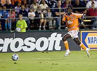 Kei Kamara dribbles the ball.San Jose Earthquakes tied Houston Dynamo 1-1 at Buck Shaw Stadium in Santa Clara, California. September 13, 2008.