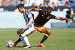 CD Leganes' Omar Ramos (l) and Valencia CF's Luis Nani during La Liga match. September 25,2016. (ALTERPHOTOS/Acero)