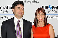 NEW YORK - JULY 12: Honorees Rick Krim and Amy Doyle attend the UJA-Federation Music Visionary of the Year Award Luncheon at the Pierre Hotel on July 12, 2012 in New York City. (Photo by MPI81/MediaPunchInc) /*NORTEPHOTO*<br />