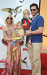 UNIVERSAL CITY, CA. - March 21: Tori Spelling, Dean McDermott, son Liam and daughter Stella arrive at the premiere of ''How To Train Your Dragon'' at Gibson Amphitheater on March 21, 2010 in Universal City, California.