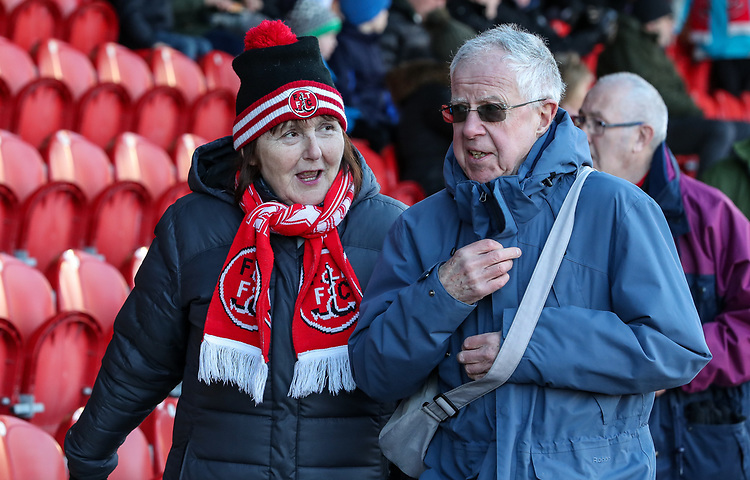 Fleetwood Town supporters  <br /> <br /> Photographer Andrew Kearns/CameraSport<br /> <br /> The EFL Sky Bet League One - Fleetwood Town v Charlton Athletic - Saturday 2nd February 2019 - Highbury Stadium - Fleetwood<br /> <br /> World Copyright © 2019 CameraSport. All rights reserved. 43 Linden Ave. Countesthorpe. Leicester. England. LE8 5PG - Tel: +44 (0) 116 277 4147 - admin@camerasport.com - www.camerasport.com