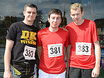 Graham Nevin, Padraig Kearney and Christopher Coburn who took part in the Turfman 10K run in Ardee. Photo:Colin Bell/pressphotos.ie