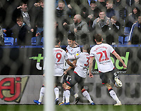 Bolton Wanderers' Will Buckley celebrates scoring his side's first goal <br /> <br /> Photographer Andrew Kearns/CameraSport<br /> <br /> The EFL Sky Bet Championship - Bolton Wanderers v Wigan Athletic - Saturday 1st December 2018 - University of Bolton Stadium - Bolton<br /> <br /> World Copyright © 2018 CameraSport. All rights reserved. 43 Linden Ave. Countesthorpe. Leicester. England. LE8 5PG - Tel: +44 (0) 116 277 4147 - admin@camerasport.com - www.camerasport.com