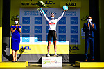 Tadej Pogacar (SLO) retains the young riders White Jersey at the end of Stage 6 of Tour de France 2020, running 191km from Le Teil to Mont Aigoual, France. 3rd September 2020.<br /> Picture: ASO/Pauline Ballet | Cyclefile<br /> All photos usage must carry mandatory copyright credit (© Cyclefile | ASO/Pauline Ballet)