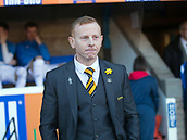 24th March 2018, McDiarmid Park, Perth, Scotland; Scottish Football Challenge Cup Final, Dumbarton versus Inverness Caledonian Thistle; Dumbarton manager Stephen Aitken
