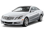 Front three quarter view of a 2013 Mercedes E Class Coupe