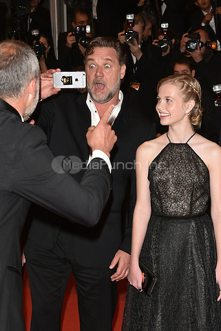Russell Crowe, Angourie Rice<br /> 'The Nice Guys' screening arrivals during the 69th International Cannes Film Festival, France May 15, 2016.<br /> CAP/PL<br /> &copy;Phil Loftus/Capital Pictures /MediaPunch ***NORTH AND SOUTH AMERICA ONLY***