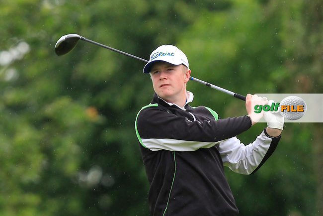 Sam Sweeney (Seapoint) on the 1st tee during Round 3 of the Irish Boys Amateur Open Championship at Thurles Golf Club on Thursday 26th June 2014.<br /> Picture:  Thos Caffrey / www.golffile.ie