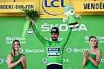 World Champion Peter Sagan (SVK) Bora-Hansgrohe wins Stage 2 and takes over the sprints Green Jersey of the 2018 Tour de France running 182.5km from Mouilleron-Saint-Germain to La Roche-sur-Yon, France. 8th July 2018. <br /> Picture: ASO/Alex Broadway | Cyclefile<br /> All photos usage must carry mandatory copyright credit (&copy; Cyclefile | ASO/Alex Broadway)