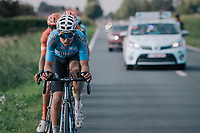 "Wout Van Aert (BEL/Veranda's Willems-Crelan) (and some...) chasing the race leaders<br /> <br /> Antwerp Port Epic 2018 (formerly ""Schaal Sels"")<br /> One Day Race:  Antwerp > Antwerp (207 km; of which 32km are cobbles & 30km is gravel/off-road!)"