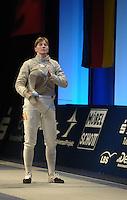 Deutsche Meisterschaft DM 2013 Fechten Säbel in Tauberbischofsheim - im Bild: Damensäbel Einzel - Deutsche Meisterin Stefanie Kubissa ( TSV Bayer Dormagen ). Foto: Norman Rembarz