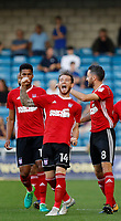 GOAL - Ipswich Town's Joe Garner salutes the fans after scoring during the Sky Bet Championship match between Millwall and Ipswich Town at The Den, London, England on 15 August 2017. Photo by Carlton Myrie.