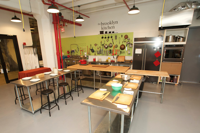 Brooklyn, NY - July 19, 2017: The new Brooklyn Kitchen classroom in Industry City in Sunset Park.<br />