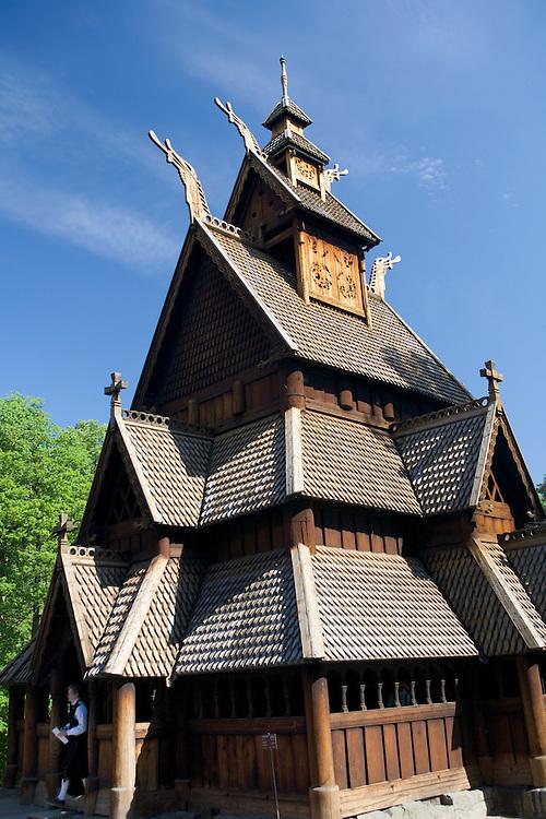 Fantoft stave church near Bergen, Norway