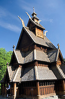 Fantoft stave church near Bergen, Norway