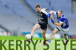 John Egan Ardfert in action against Gerard Mockler Saint Croan's in the Intermediate Football All Ireland Club Final in Croke Park on Saturday.