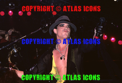 Lead Vocalist Stephen Pearcy of RATT Performs in New York City in 1986.Photo Credit: Eddie Malluk/AtlasIcons.com