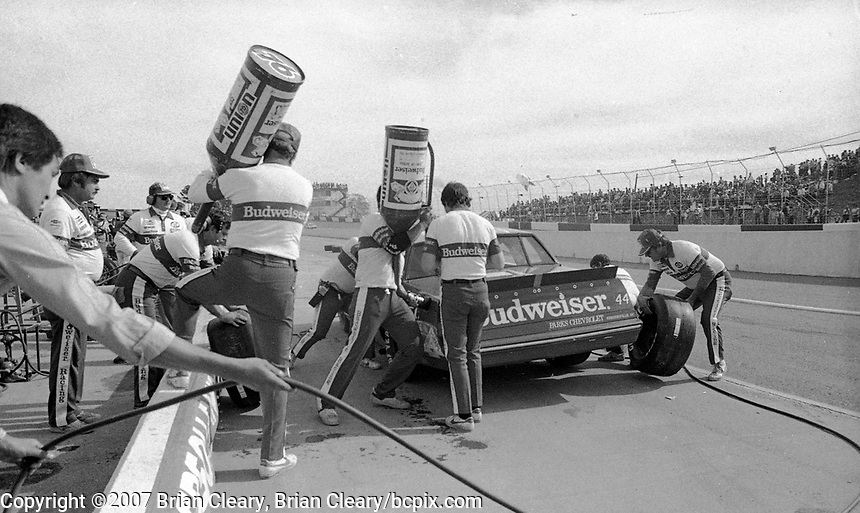Atlanta Journal 500 at Atlanta International Raceway in Hampton, GA on November 6, 1983. (Photo by Brian Cleary/www.bcpix.com)  Atlanta Journal 500, Atlanta Motor Speedway, Hampton, Georgia, November 6, 1983.  (Photo by Brian Cleary/www.bcpix.com)