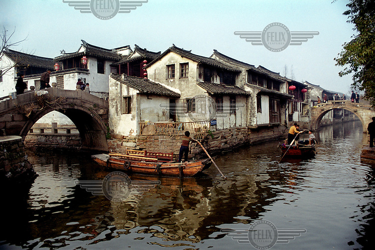 The city of Suzhou is Jiangsu Province's most well-known attraction, famous for its classical architecture and canals. ..