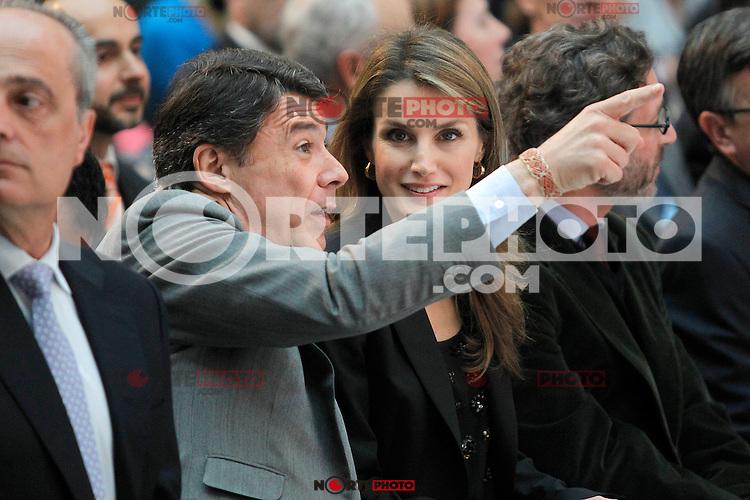 Princess Letizia of Spain attends the 'El Barco de Vapor' literature awards in presence of the President of the Madrid Region Jose Ignacio Gonzalez.April 9, 2013.(ALTERPHOTOS/Acero) /NortePhoto