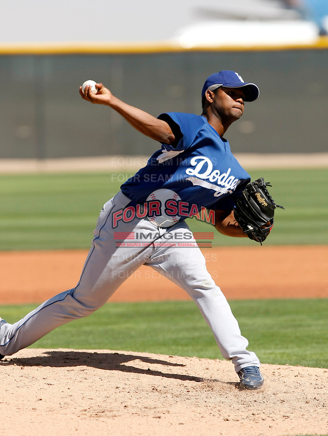 Miguel Ramirez - Los Angeles Dodgers - 2009 spring training.Photo by:  Bill Mitchell/Four Seam Images