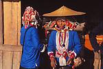 China, Aini women in Xishuangbanna Dai Autonomous Prefecture, Yunnan Province