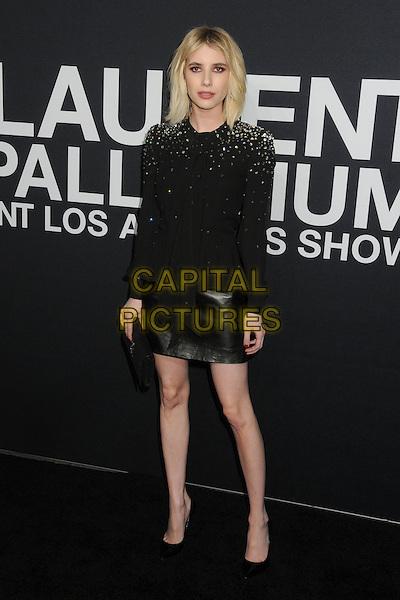 10 February 2016 - Los Angeles, California - Emma Roberts. Saint Laurent At The Palladium held at the Hollywood Palladium. <br /> CAP/ADM/BP<br /> &copy;BP/ADM/Capital Pictures