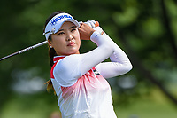 Jessica Korda (USA) watches her tee shot on 12 during the round 1 of the KPMG Women's PGA Championship, Hazeltine National, Chaska, Minnesota, USA. 6/20/2019.<br /> Picture: Golffile | Ken Murray<br /> <br /> <br /> All photo usage must carry mandatory copyright credit (© Golffile | Ken Murray)