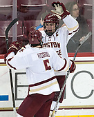 Casey Fitzgerald (BC - 5), Chris Calnan (BC - 11) - The Boston College Eagles defeated the University of Vermont Catamounts 7-4 on Saturday, March 11, 2017, at Kelley Rink to sweep their Hockey East quarterfinal series.The Boston College Eagles defeated the University of Vermont Catamounts 7-4 on Saturday, March 11, 2017, at Kelley Rink to sweep their Hockey East quarterfinal series.