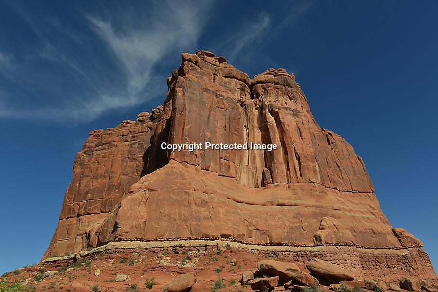 Zion National Park, Virgin River Valley, Utah, Southwest, Southwestern Utah,  Sentinel Rock,