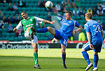 Hibs v St Johnstone.....30.04.11.Victor Palsson and Jamie Adams.Picture by Graeme Hart..Copyright Perthshire Picture Agency.Tel: 01738 623350  Mobile: 07990 594431