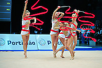 Senior group from Italy performs routine at 2011 World Cup at Portimao, Portugal on May 01, 2011.