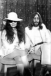 John Lennon and Yoko Ono 1969 at London Heathrow Airport