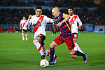 Sebastian Driussi (River), Andres Iniesta (Barcelona),<br /> DECEMBER 20, 2015 - Football / Soccer :<br /> FIFA Club World Cup Japan 2015 Final match between River Plate 0-3 FC Barcelona at International Stadium Yokohama in Kanagawa, Japan. (Photo by AFLO)