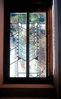 F.L. Wright: Barnsdall House. Window detail.