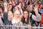The crowd at Denny Street Stage for Jedward on Friday.