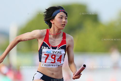 Ichiko Iki (), <br /> JULY 29, 2015 - Athletics : <br /> 2015 All-Japan Inter High School Championships, <br /> Women's 4100mR <br /> at Kimiidera Athletic Stadium, Wakayama, Japan. <br /> (Photo by YUTAKA/AFLO SPORT)