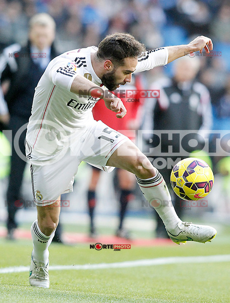 Real Madrid's Daniel Carvajal during La Liga match.January 31,2015. (ALTERPHOTOS/Acero) /NortePhoto<br />