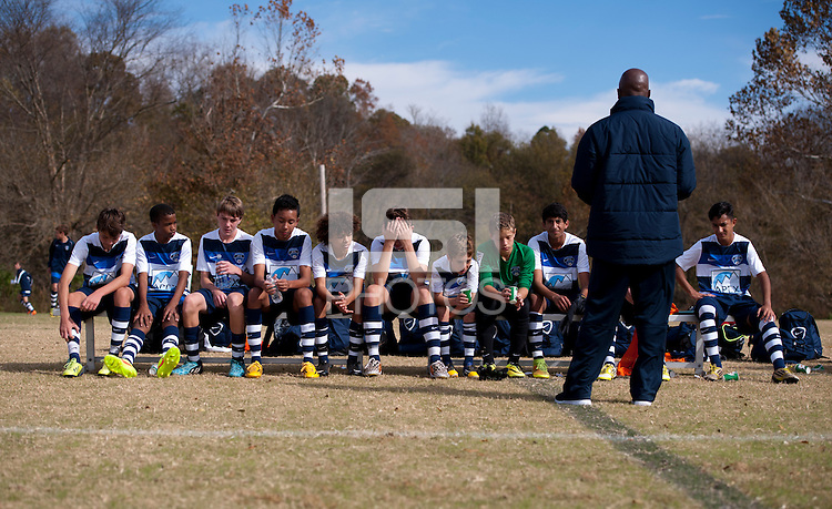 Advance, NC - November 8, 2014: US Soccer Development Academy held the U-13/14 regional showcase at BB&T Soccer Park in Advance, NC.