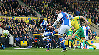 Blackburn Rovers' Danny Graham spurns a first half chance<br /> <br /> Photographer David Shipman/CameraSport<br /> <br /> The EFL Sky Bet Championship - Norwich City v Blackburn Rovers - Saturday 11th March 2017 - Carrow Road - Norwich<br /> <br /> World Copyright &copy; 2017 CameraSport. All rights reserved. 43 Linden Ave. Countesthorpe. Leicester. England. LE8 5PG - Tel: +44 (0) 116 277 4147 - admin@camerasport.com - www.camerasport.com