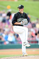 May 15, 2010: Ian Krol of the Kane County Cougars at Elfstrom Stadium in Geneva, IL. The Cougars are the Midwest League Class A affiliate of the Oakland Athletics. Photo by: Chris Proctor/Four Seam Images