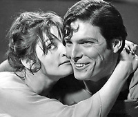 Superman (1978) <br /> Margot Kidder &amp; Christopher Reeve<br /> *Filmstill - Editorial Use Only*<br /> CAP/KFS<br /> Image supplied by Capital Pictures