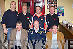 Former Offaly footballers Ritchie O'Connor and Seamus Darby who was the guest of honour at the September 1982 play in the Ivyleaf theatre Castleisland on Friday night, Ritchie O'Connor, Dan Casey, Seamus Darby. Back row: Bill Horgan, Gerard Murphy, John Breen and Colm Nolan