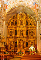 Oaxaca; Mexico; North America.  Altar of the Church of Santo Domingo, built 1570-1608.