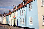 Terrace row of colourful cottages, Southwold, Suffolk, England