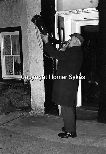 Bainbridge Horn Blower Bainbridge Yorkshire Uk 1974.<br />