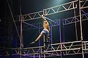 Edinburgh, UK. 12.08.2014.  NoFitState Circus perform their show BIANCO, in their Grand Chapiteau in Fountainbridge, to a rapt audience, at the Edinburgh Festival Fringe. © Jane Hobson.